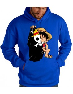 Sudadera One Piece Luffy con bandera