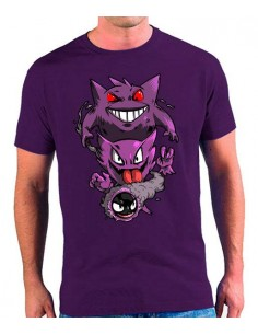 Camiseta Pokémon Gengar Evolution