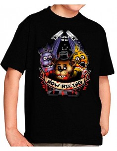 Camiseta Five nights at Freddy´s contratados
