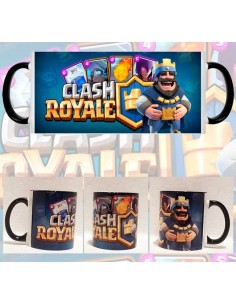 Taza Clash Royale Rey y Cartas