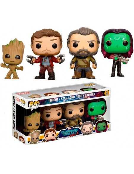 Funko Pop Guardianes del la galaxia Vol.2 Pack de 4 Groot