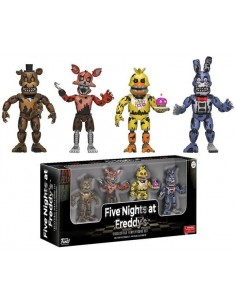 Pack de 4 figuras Five Nights at Freddy's Set nº2 Nightmare Edition