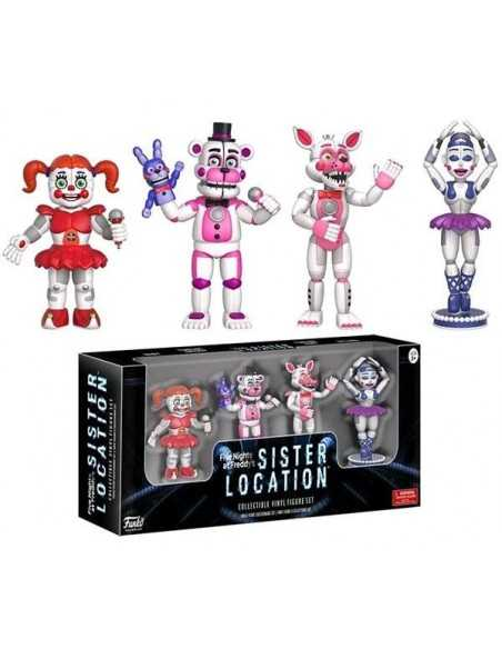 Pack de 4 figuras Five Nights at Freddy's Sister Location