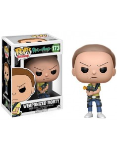 Funko Pop Morty con pistola vaporizadora
