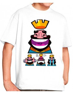 Camiseta Clash Royale Rey Iconos