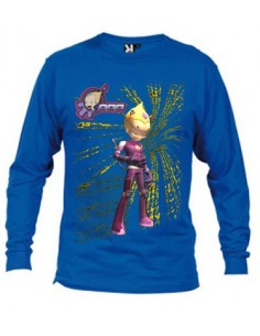 Camiseta Codigo Lyoko Odd (matrix) manga larga Azul Royal