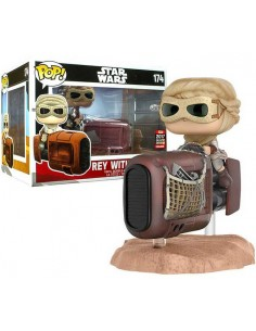 Figura Pop Star Wars Rey con Speeder