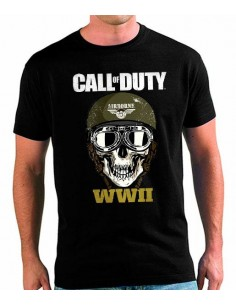 Camiseta Call of Duty WWII Arborne Skull