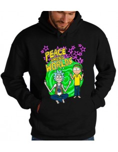 Sudadera Rick y Morty Peace among Worlds