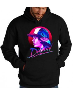 Sudadera Stranger Things Dustin Neón