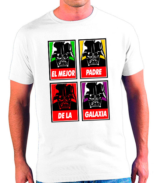 camiseta mejor padre de la galaxia colors