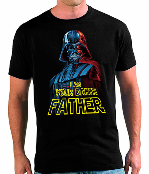 camiseta dia del pade star wars darth father