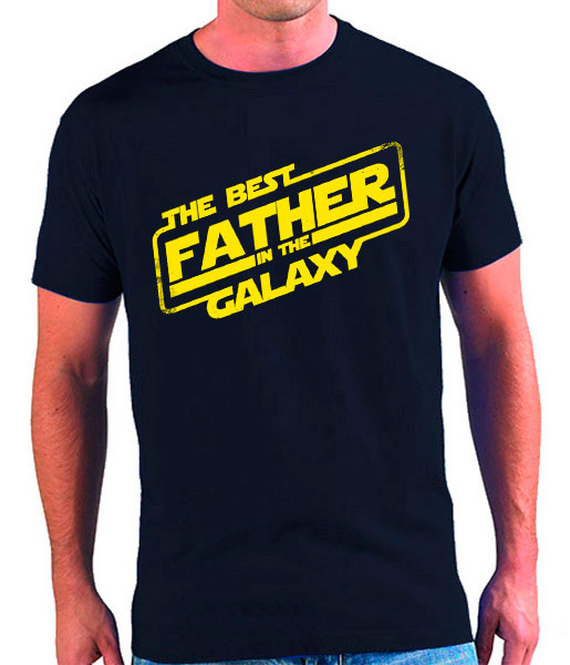 camiseta dia del padre best father galaxy